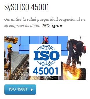 Gestión SySO ISO 45001