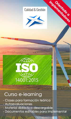 Implementar ISO 14001:2015 - Curso e-learning