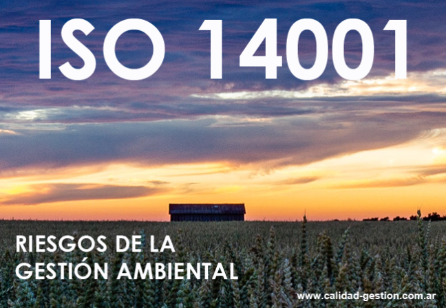 14001:2015 -CÓMO TRATAR LOS RIESGOS DE LA GESTIÓN AMBIENTAL